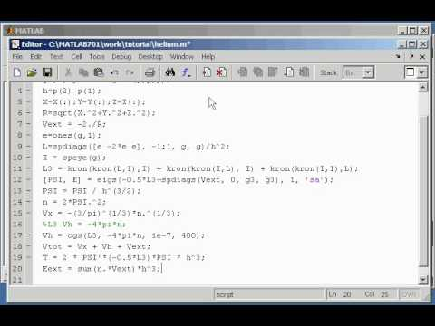 DFT code in one hour with Matlab - part 2: Helium Atom