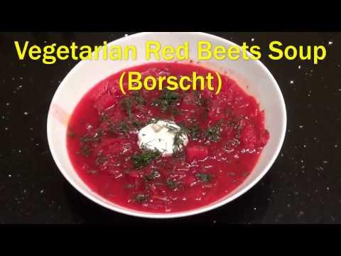 Vegetarian Red Beets Soup (Borscht)