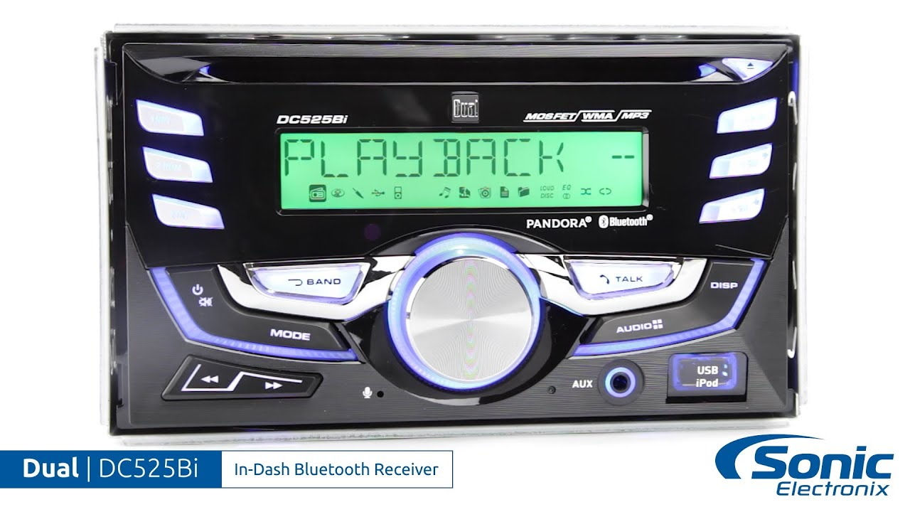 Dual DC525Bi In-Dash Bluetooth Receiver | Product Overview