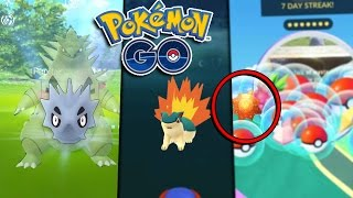 TYRANITAR PRE EVOLUTION CATCH & HOW TO GET EVOLUTION ITEMS! - Pokemon GO