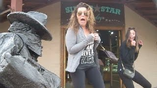 Statue Surprise!  Incredible reactions!! February 2016