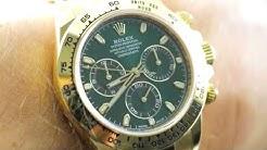 """Rolex Daytona Cosmograph """"Golden Hulk"""" 116508 Rolex Watch Review"""
