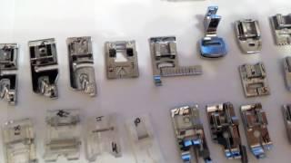 Лапки для швейных машин с горизонтальным челноком, набор игл. Обзор посылки с Али.