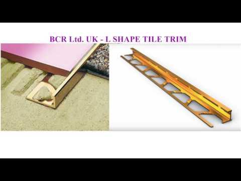 Aluminium Tile trims by BCR Ltd. UK now in DUBAI, UAE