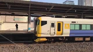 JR東日本E257系500番台(幕張車両センターNB-12編成)。