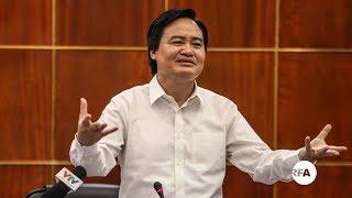 """Chuyện Bộ trưởng Giáo dục Phùng Xuân Nhạ """"tự đạo văn"""" © Official RFA Video"""