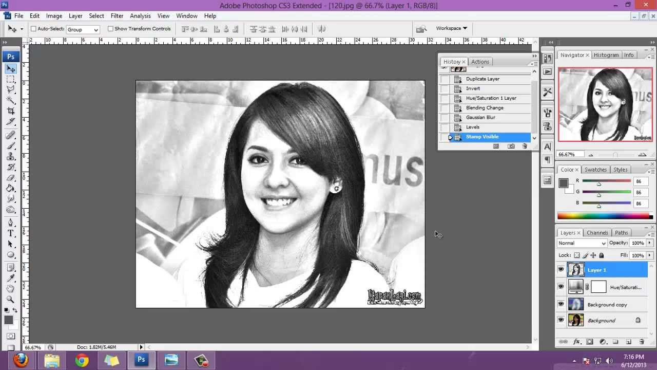 Cara Gampang Membuat Sketsa Pensil Dari Photoshop Youtube