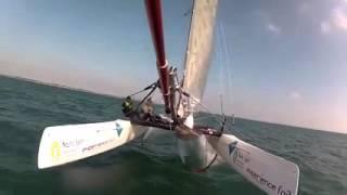 Sortie baptème nautic sport experience foil catamaran  Nacra 20 fcs