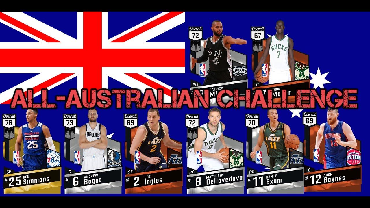 ALL AUSTRALIAN ONLY CHALLENGE NBA 2K17 MYTEAM ONLINE
