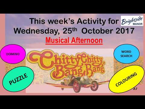 Resident Activity Programme for W/C Monday, 23rd October 2017 (Wk#30)