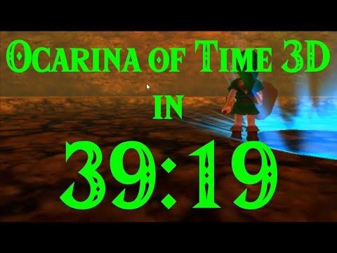 Ocarina of Time 3D Any% Speedrun in 39:19
