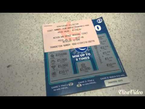 HUGE NATIONAL LOTTERY SCRATCH CARD WINNER YouTube