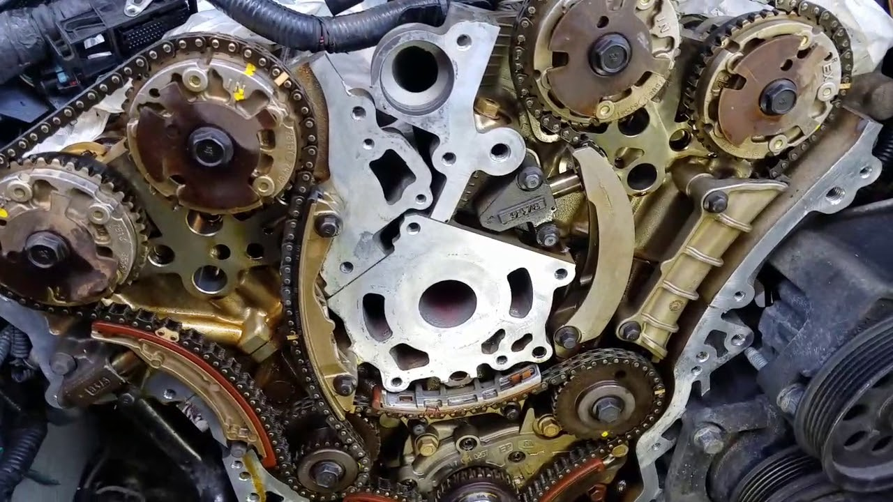 2007 Cadillac CTS 2 8 v6 timing chain kit install, high feature v6,  Chevrolet