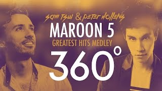 360°A Cappella MAROON 5 Medley!!! (Sam Tsui + Peter Hollens) | Sam Tsui MP3