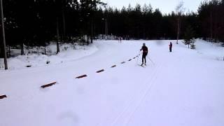 Pm-hiihdot Lieksa 23.2.2014, Karla Könönen viestin ankkuriosuudella