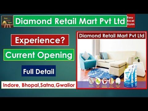 Vacancy In Indore, Bhopal, Satna, Gwalior @ Diamond Retail Mart Pvt Ltd Aug19 |Easyexcelgyan
