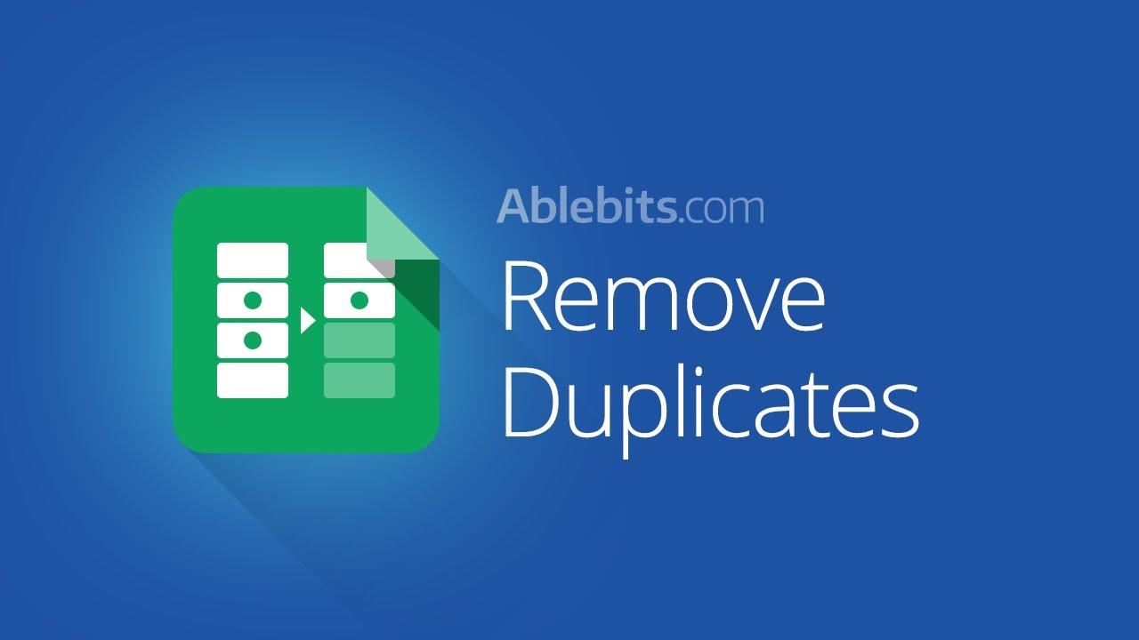 Remove Duplicates - G Suite Marketplace