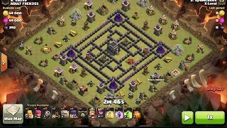 How To 3 Star the Anti 2 Star TH9 Base 4 Corners w/ GoWiWi, Clash of clans clan war.