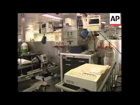 Report from on board US hospital ship ready to treat casualties