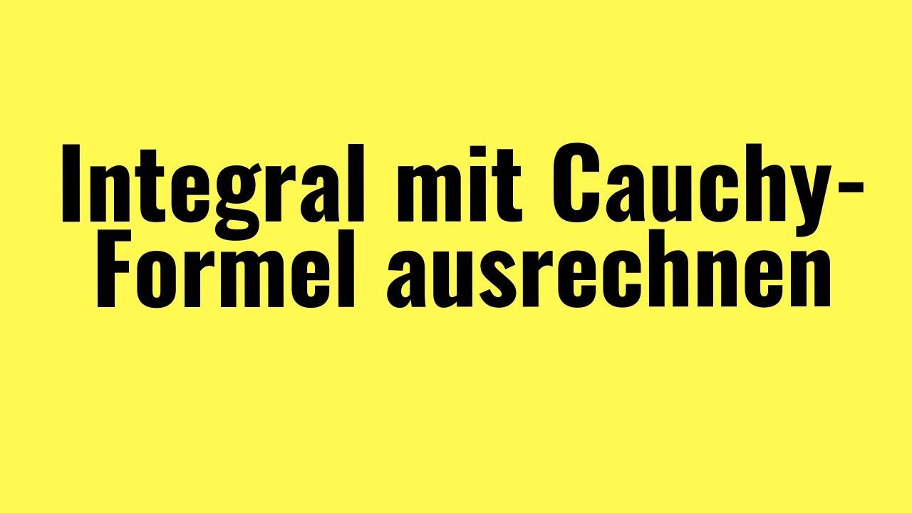 Funktionentheorie Integral Mit Cauchy Integralformel Vorgerechnetes Beispiel Youtube