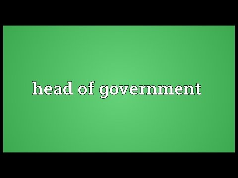 Head of government Meaning
