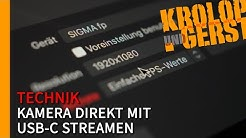 Kamera direkt mit USB-C streamen / Sigma fp 📷 Krolop&Gerst