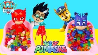 PJ Masks Bedtime Routine with Fake LOL Dolls and Paw Patrol