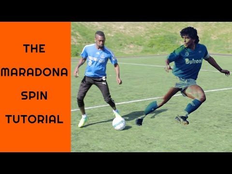 How to do the Maradona spin - 360 Roulette turn + 1986 Hand of God - 동영상