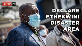 eThekwini Mayor Mxolisi Kaunda spoke to Eyewitness News during a walkabout of Mega City Mall in Umlazi, KwaZulu-Natal, on 21 July 2021 following riots and looting in the area.  #ViolenceinSA #KZN #ShutdownSA