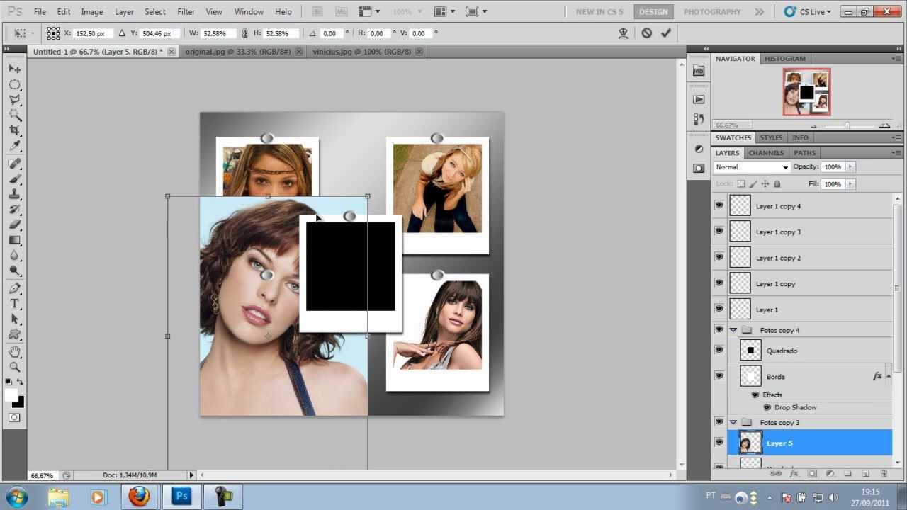 Como fazer painel de fotos no photoshop 20