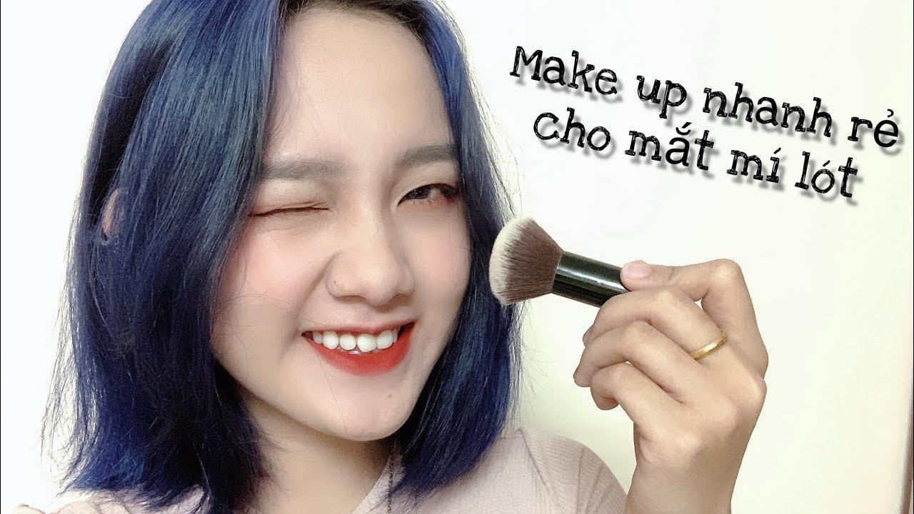 Vlog #5: Makeup nhanh và rẻ cho mắt mí lót 👀