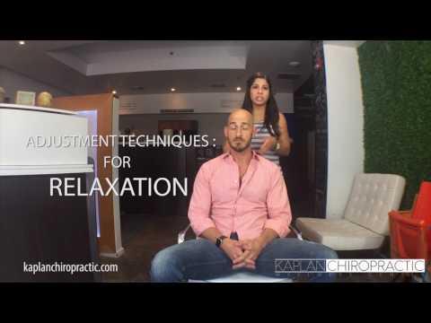 Miami Beach FL Chiropractor - Sitting Cervical Neck Adjustment