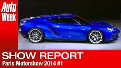 Paris Motor Show 2014 Report 1 - Volkswagen Group Night - English subtitled