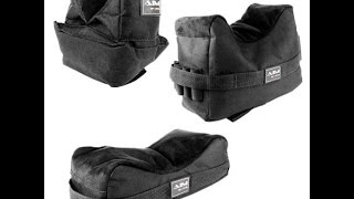 Unboxing of Set of 3 Black Color Bench Rest Shooting Bags for Rifle