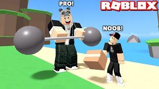 En Güçlü Eşyaları Kaldır ve Kocaman Ol!! - Panda ile Roblox Fitness Simulator