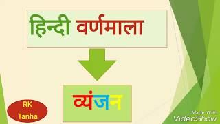 हिन्दी वर्णमाला व्यंजन तथा इसके भेद
