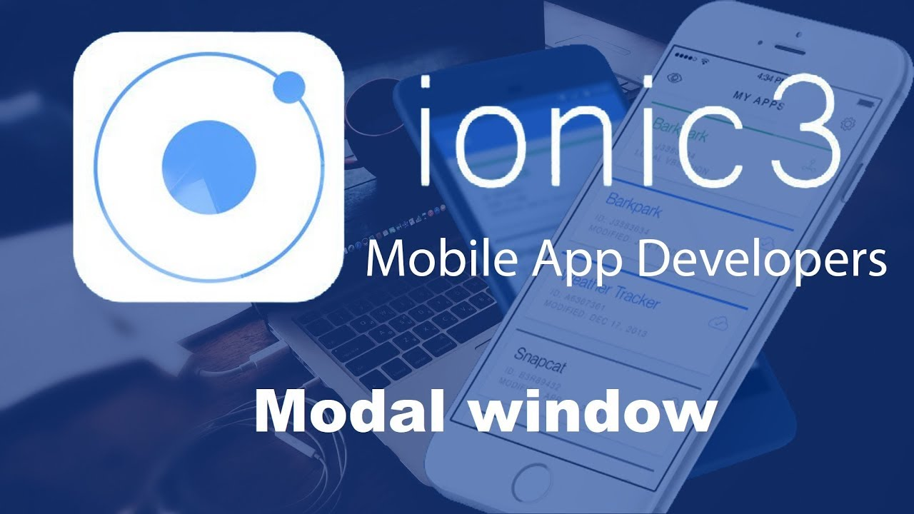 Ionic 3 Tutorials #32 Modal window