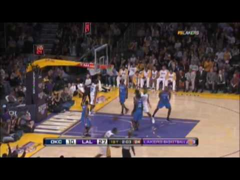 Kobe Bryant Mid-Game Shot over the Backboard