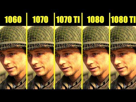 Call Of Duty WW2 1080 TI Vs 1080 Vs 1070 TI Vs 1070 Vs 1060 Frame Rate Comparison