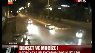 Muşta Mobese kameralarına yansıyan trafik kazaları ekrana geliyor