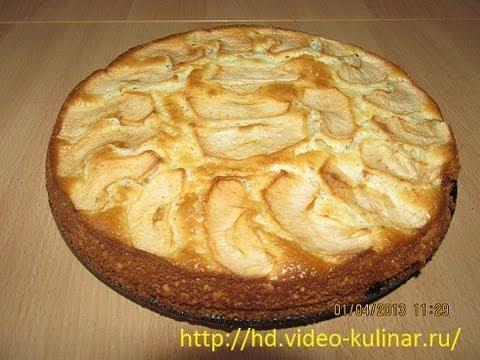 Шарлотка классическая с яблоками и сметаной рецепт
