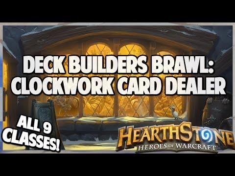 Deck Builders Brawl   Clockwork Card Dealer   Hearthstone   Rise Of Shadows