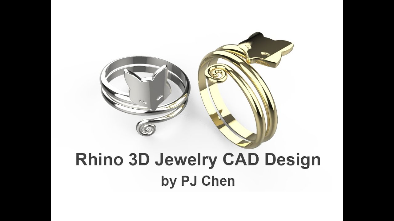 Jewelry CAD Design Tutorial #18: Fox Ring