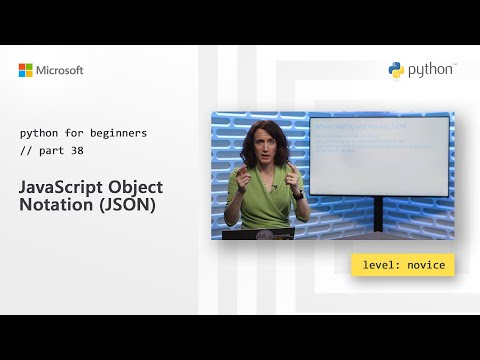 JavaScript Object Notation (JSON) | Python for Beginners [38 of 44] thumbnail