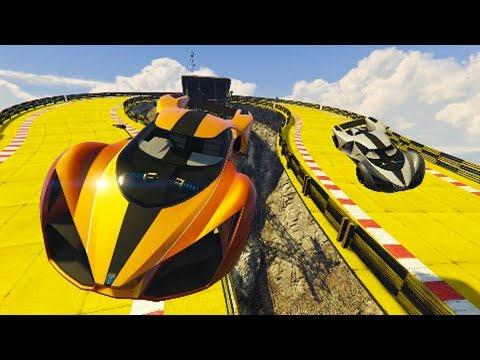 SALTOS INCREIBLES Y VELOCIDAD EXTREMA! - CARRERA GTA V ONLINE - GTA 5 ONLINE