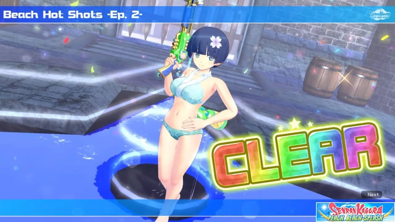 Senran Kagura Peach Beach Splash Ps4 Yozakura Gameplay Youtube