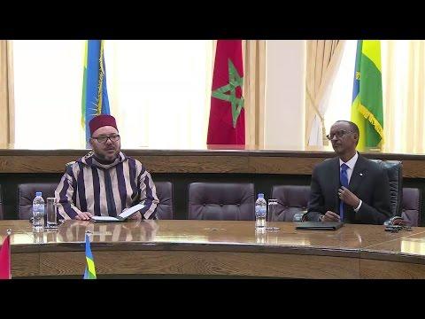 Visite Roi Mohammed VI au Rwanda - Signature Accords