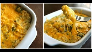 Quinoa And Broccoli Casserole Easy & Cheesy Recipe!