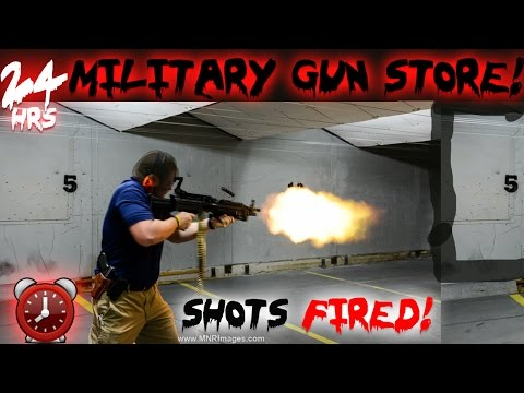 24 HOUR OVERNIGHT CHALLENGE IN MILITARY GUN STORE!