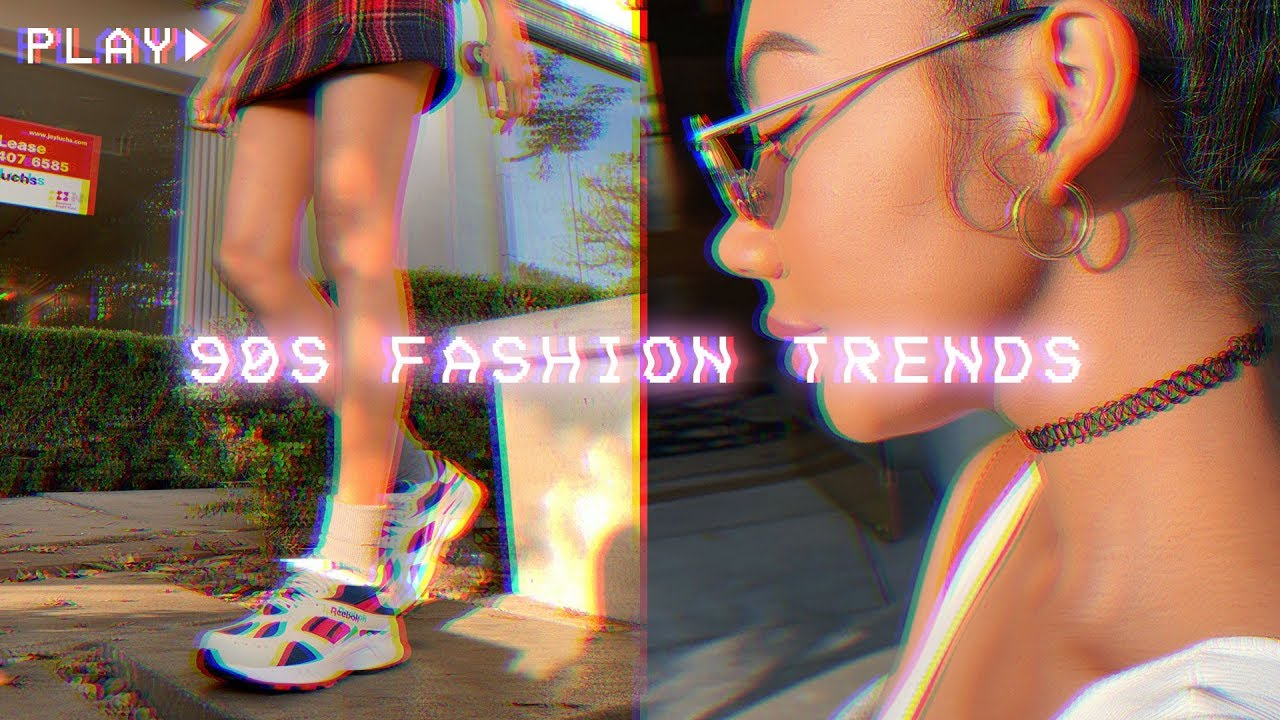 HOW TO STYLE 90s TRENDS / dad sneakers, plaid skirts, chokers, etc! 6